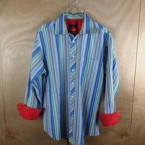 Ted Baker Men Designer Shirt w/Solid Color Cuff